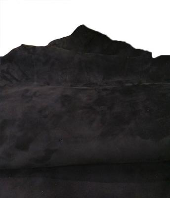 Кожа замшевая КРС чёрная 1мм
