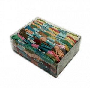 Нитки мулине разноцветные 100 шт. в упаковке по 20 м
