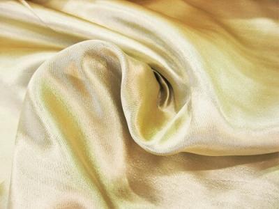Портьерная ткань Блэкаут цвет золото рисунок волна-песок