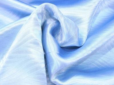 Портьерная ткань Блэкаут цвет светло-синий рисунок морская водоросль