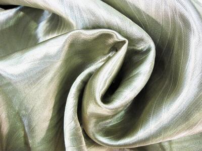 Портьерная ткань Блэкаут цвет оливковый рисунок морская водоросль