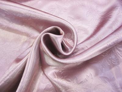 Портьерная ткань Блэкаут цвет розовый рисунок цветы