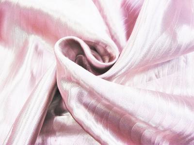 Портьерная ткань Блэкаут цвет розовый рисунок морской штиль