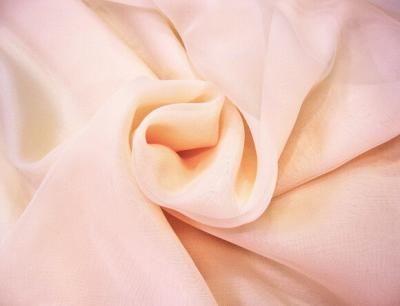 Ткань Вуаль Тюль цвет персиково-розовый