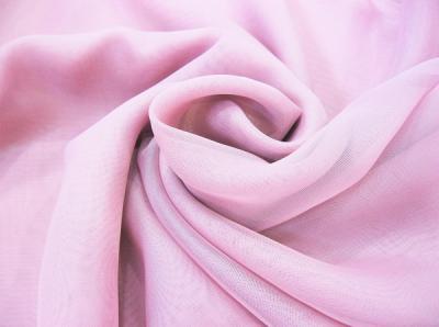 Ткань Вуаль Тюль цвет розовый