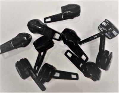 Замок-бегунок № 132 спираль Т7 СТРЕЛА черный  арт. 5013